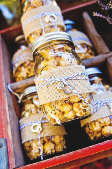 A classic example of an adorable mason jar wedding favour. Photo: Katie Rivers Photography