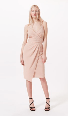 Miss Selfridge Nude Strappy Pencil Dress