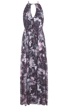 Miss Selridge Floral Plait Maxi Dress