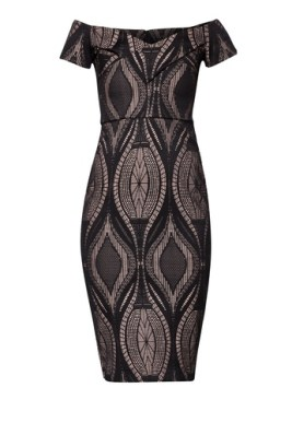 River Island Lace Bodycon Bardot Dress