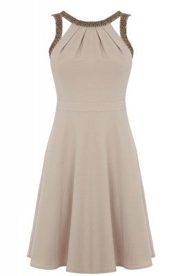 Warehouse Embellished Cut-out dress