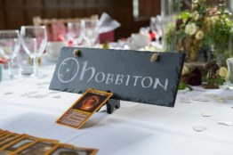 Label your wedding tables with different names of the lands in Middle Earth. Photo: Pengelly Photography