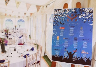 Create your seating arrangement in the form of a festival poster. Photo: Paul Dunhill