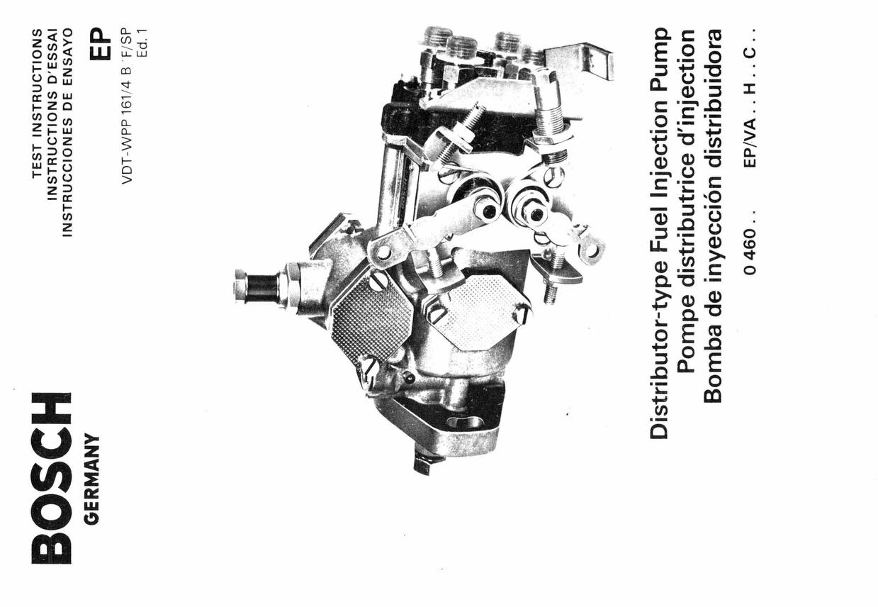 Bosch Vintagesel Fuel Pump Manuals For Mechanics