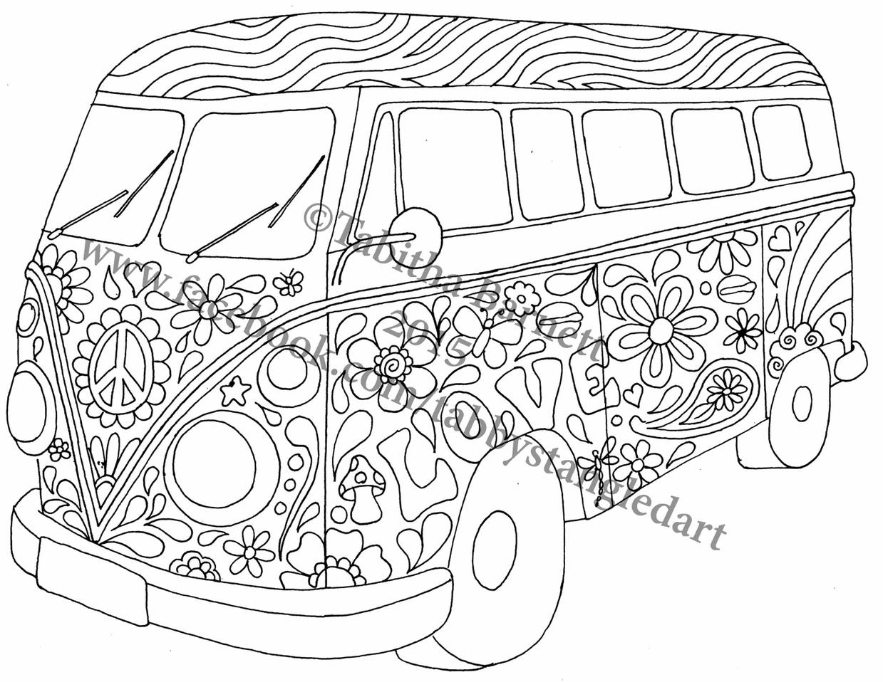 Peace Vw Hippie Van