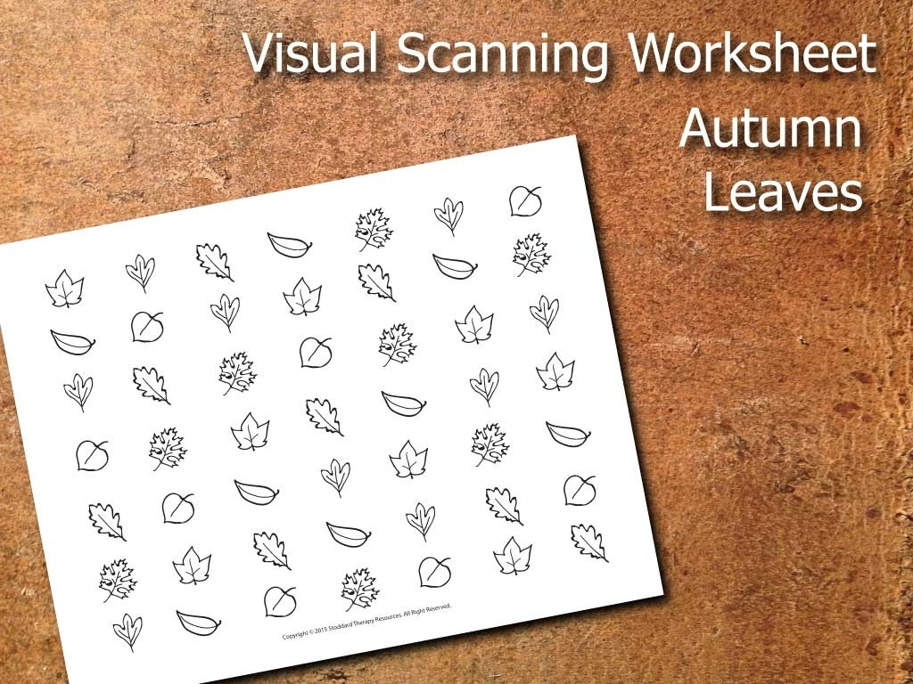 Visual Scanning Worksheet