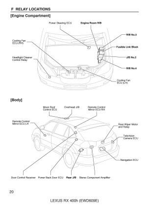 FREE: 2005 Lexus RX400H, OEM Electrical Wiring Diagram