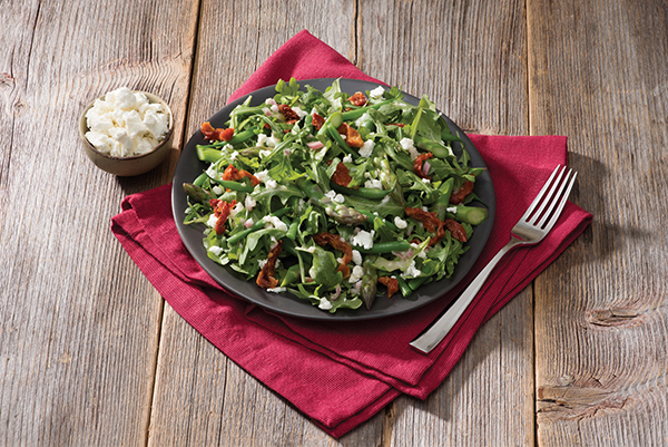 Green Bean, Asparagus and Goat Cheese Salad with Honey Dijon Vinaigrette