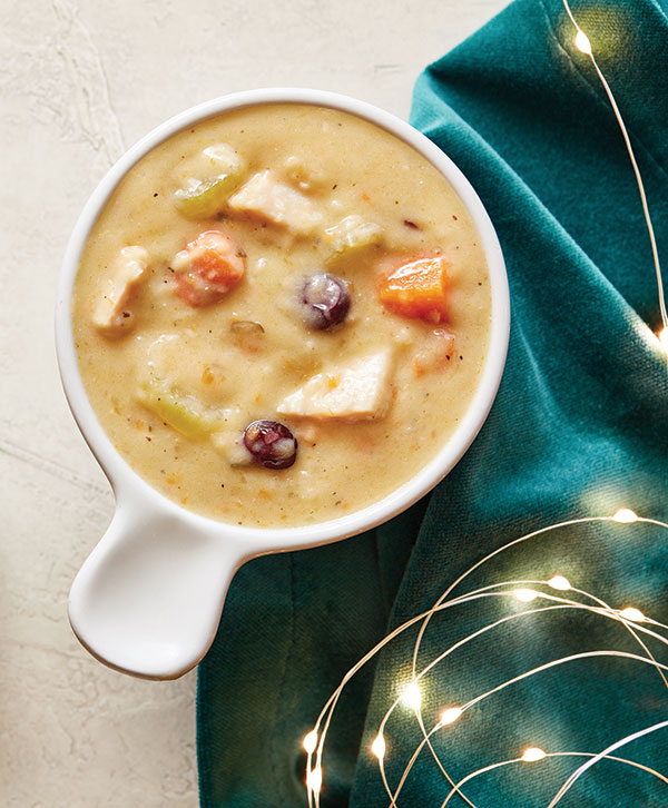 Roasted Turkey and Cranberry Soup
