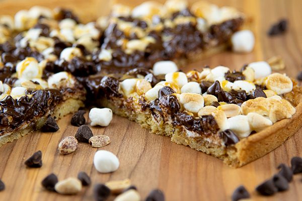 Rocky Road Cookie Dessert Pizza Free Cooking and BBQ Magazine