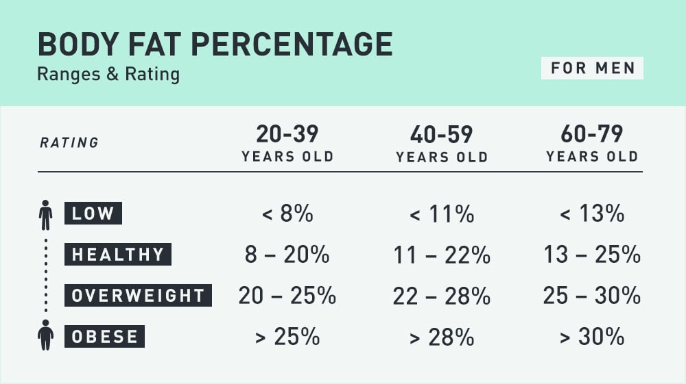 Average Body Fat Age