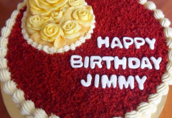 Happy Birthday Red Velvet Cake Winni