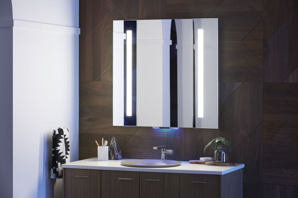 The Verdera Lighted Mirror with built-in Amazon Alexa