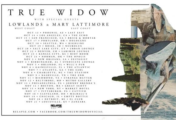 True Widow tour poster
