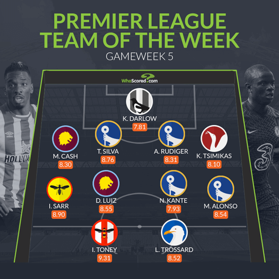 Chelsea dominate Premier League team of the week after smashing Spurs