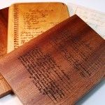 Handwritten Recipe Custom Engraved Cutting Board Small 7x10 Sold By Why Not Stand Out On Storenvy