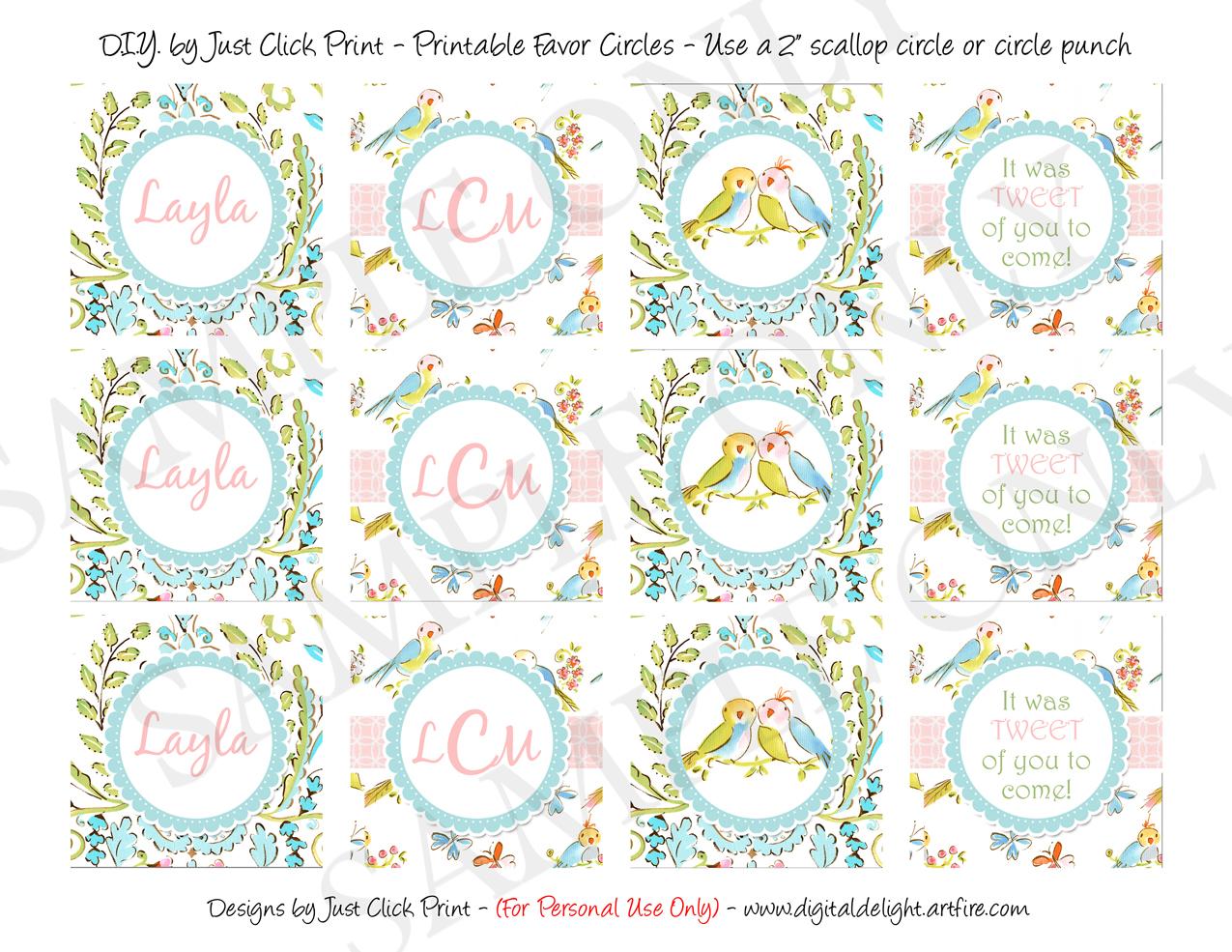 Tweet Little Love Birds Baby Shower Invitation Printable Just Click Print Online Store