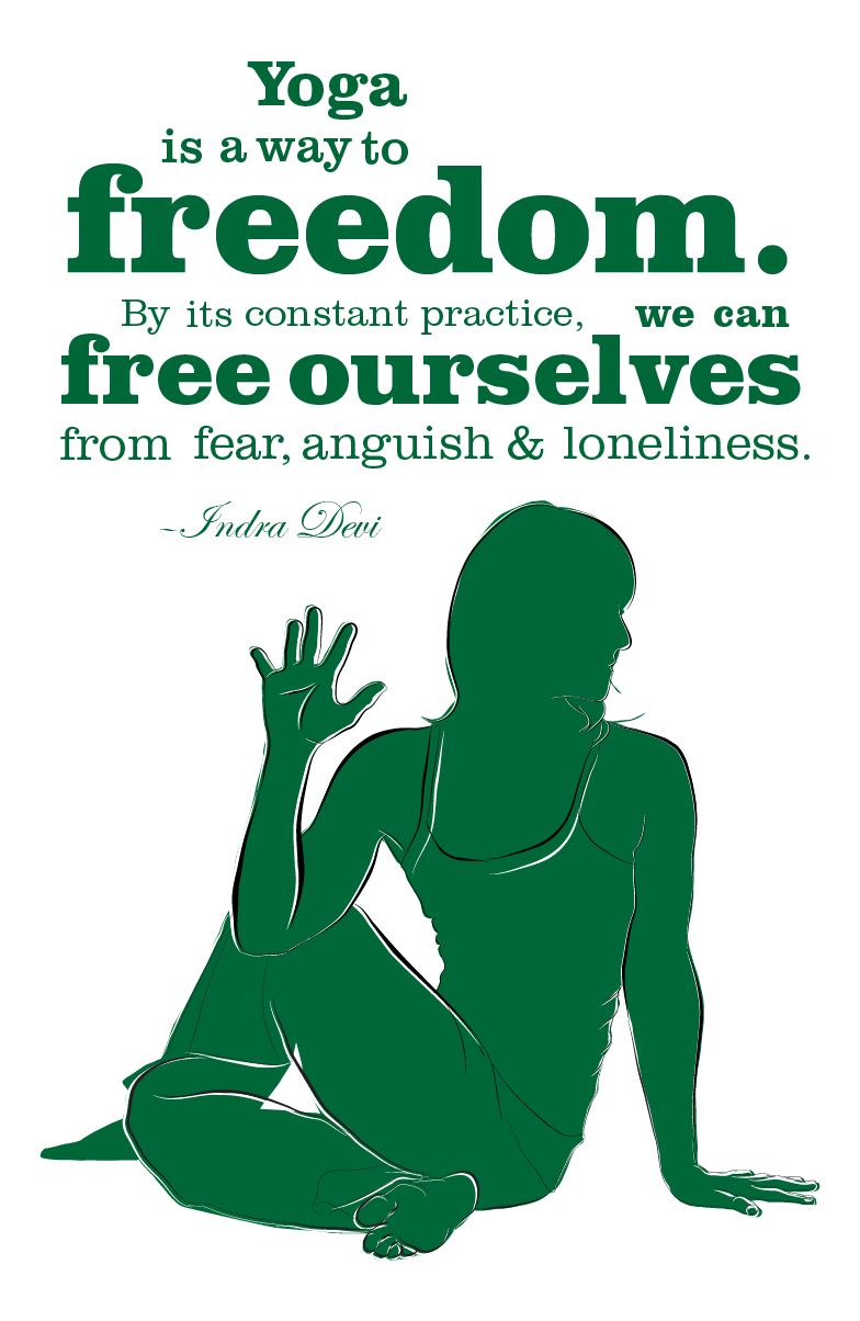 Yoga freedom quote