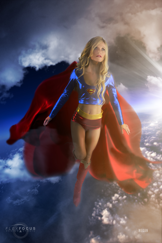 Supergirl In Flight 12 X 18 Poster Cosplay Composites