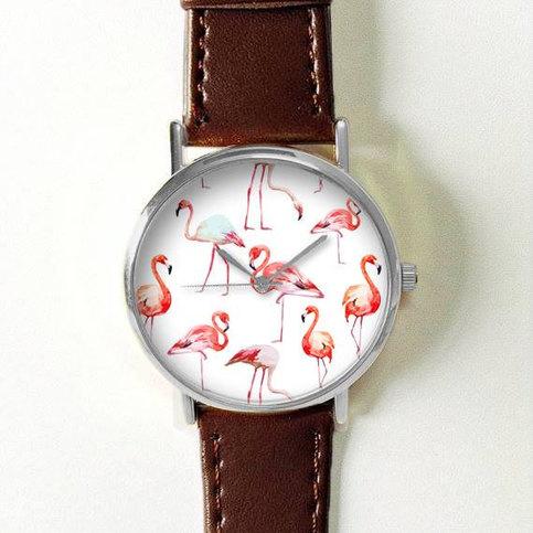 Flamingo Watch Women Watches Leather Unique Jewelry
