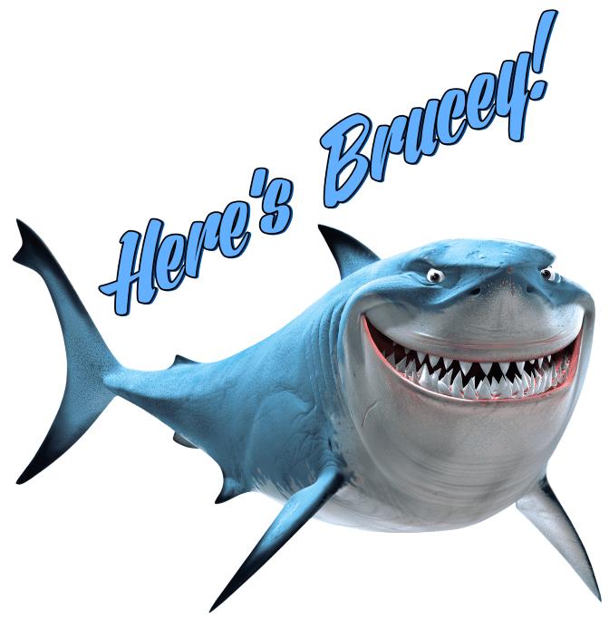 Finding Nemo Bruce The Shark Iron On Heat Transfer 7