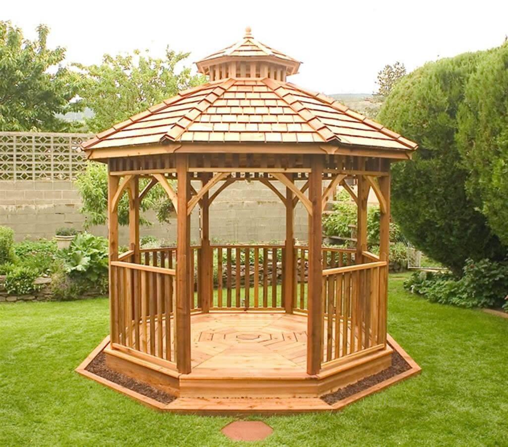 14 Cedar Wood Gazebo Designs Octagon Rectangle Hexagon