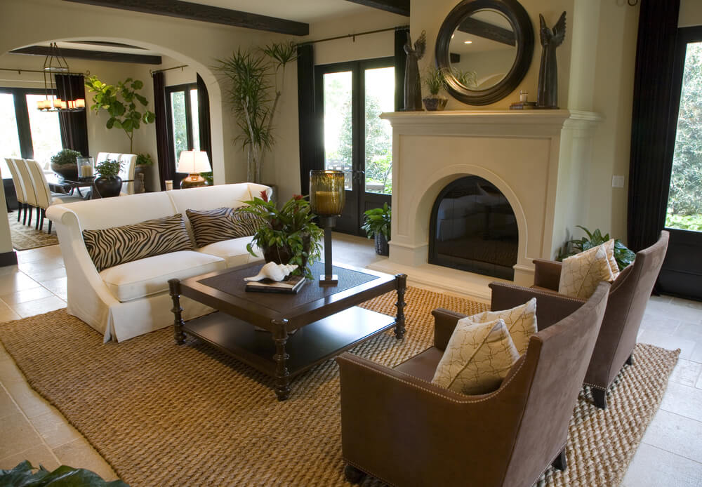 Family Room Decorating Ideas Corner Fireplace