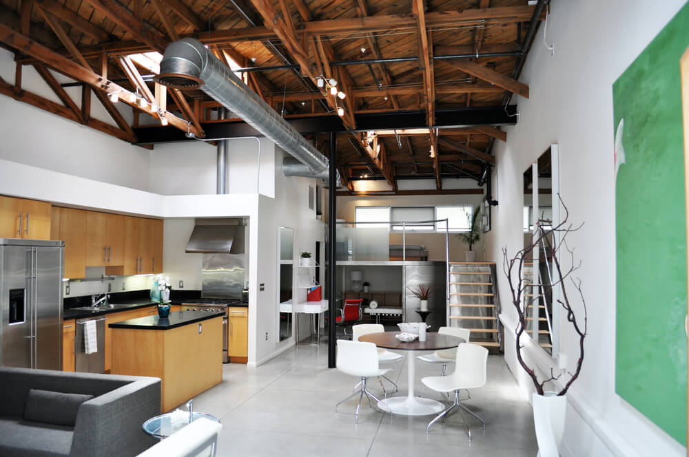 Apartment with loft