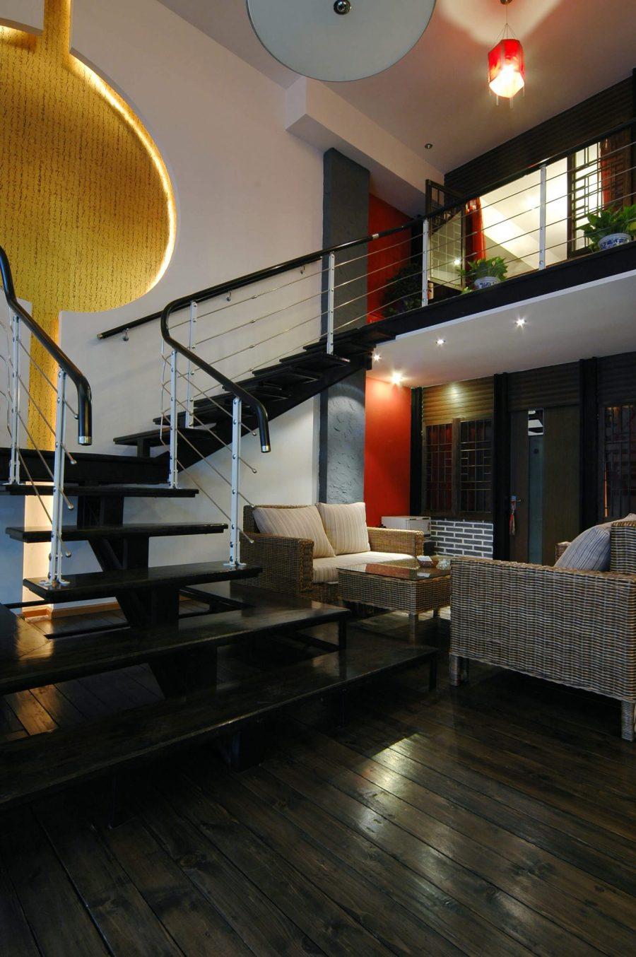 Modern home with a loft