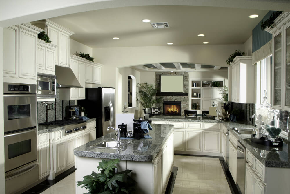 Black Painted French Country Kitchen