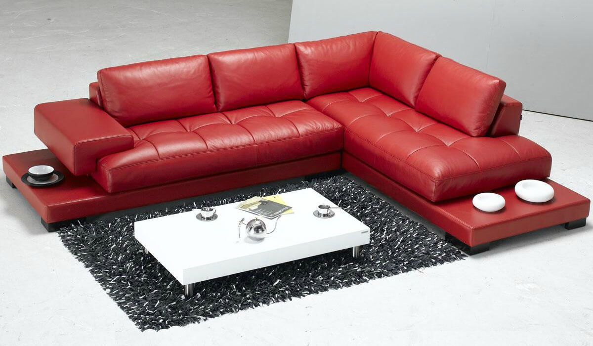 red modern sofa hd picture for free
