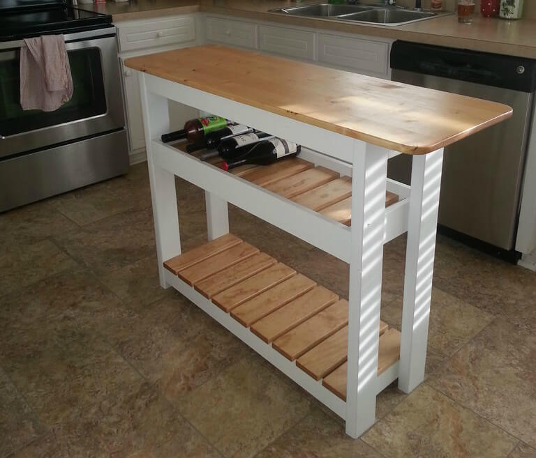 Movable Breakfast Bar Movable Kitchen Island With Seating Novocom Top