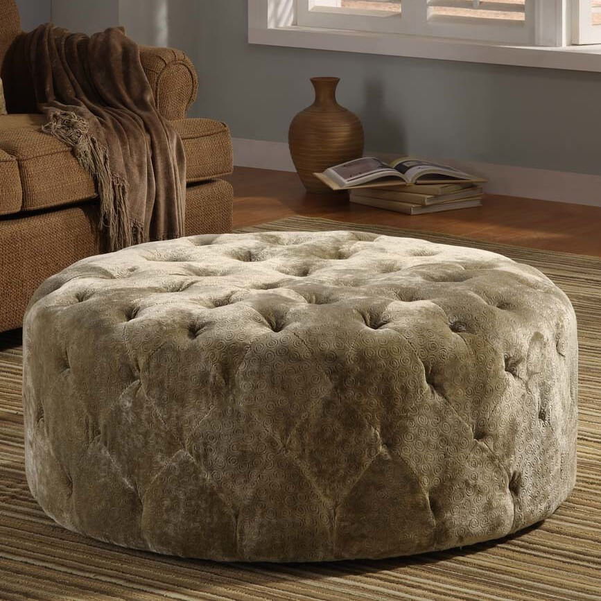 Leather Tufted Ottoman Storage