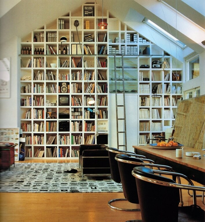 Attic library room