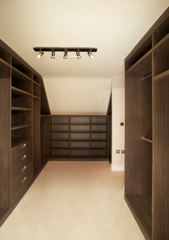 Attic walk-in-closet