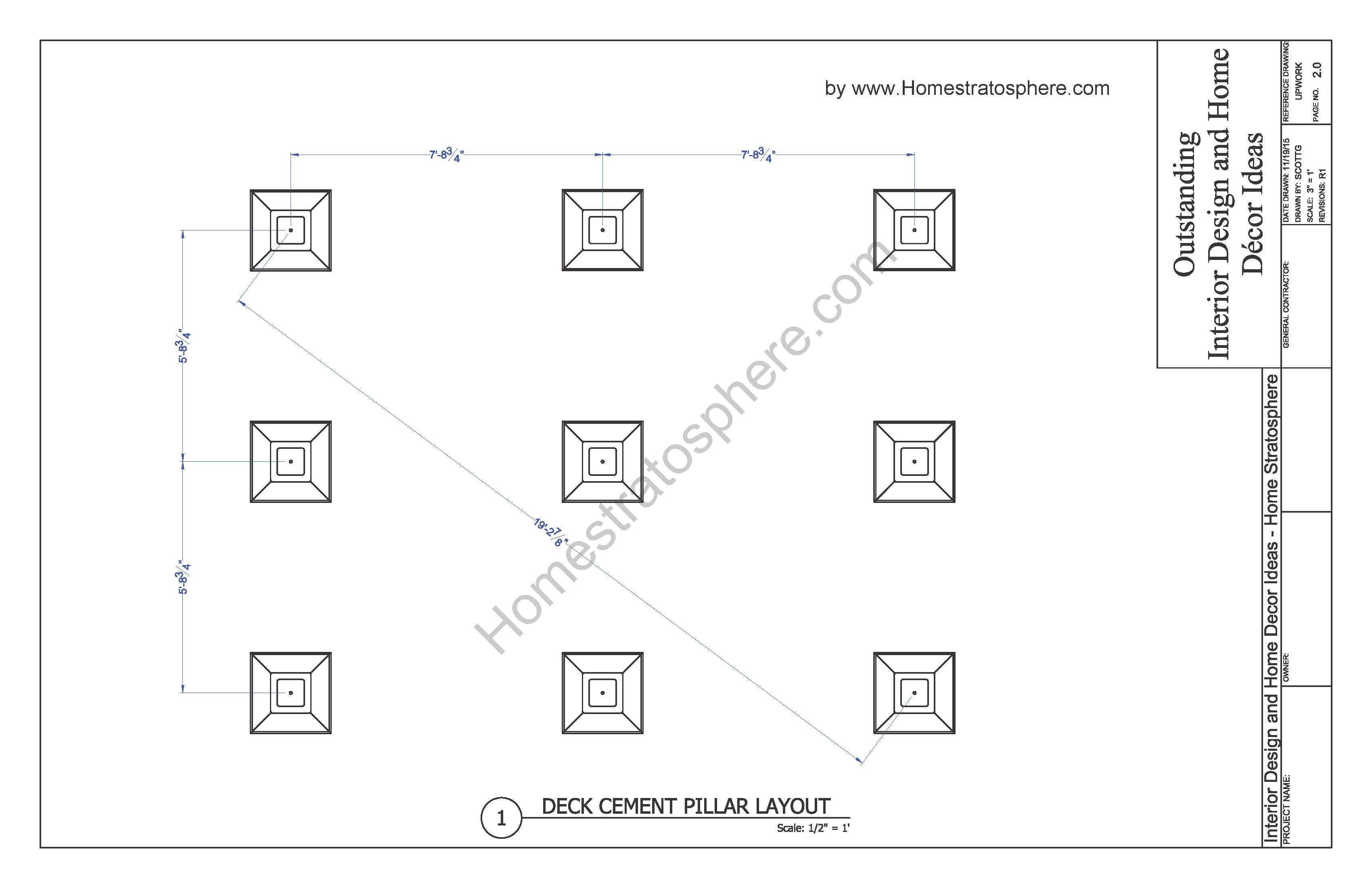 Free 12 X 16 Deck Plan Blueprint With Document Download