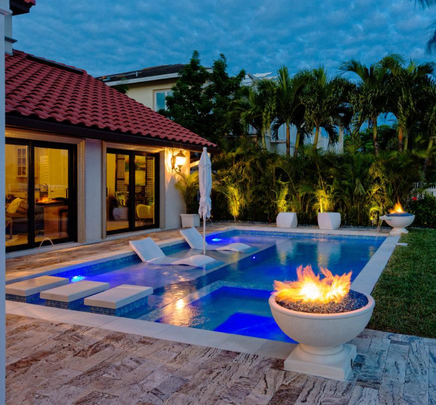 Above Ground Pool Garden Design