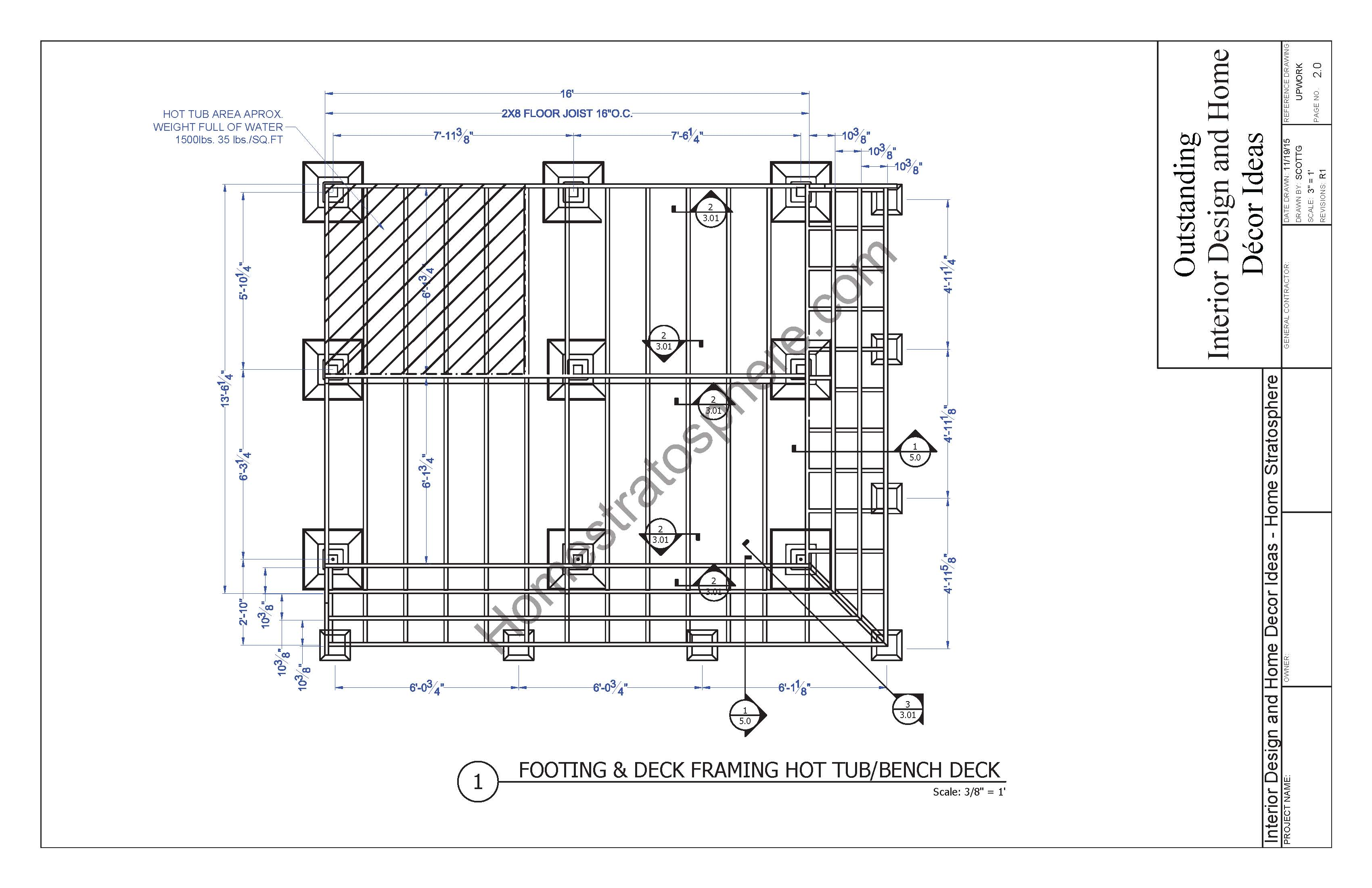Hot Tub Deck Design Plan Free Download
