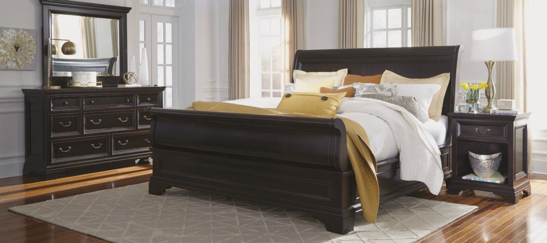 elegant dark wood home furniture collection