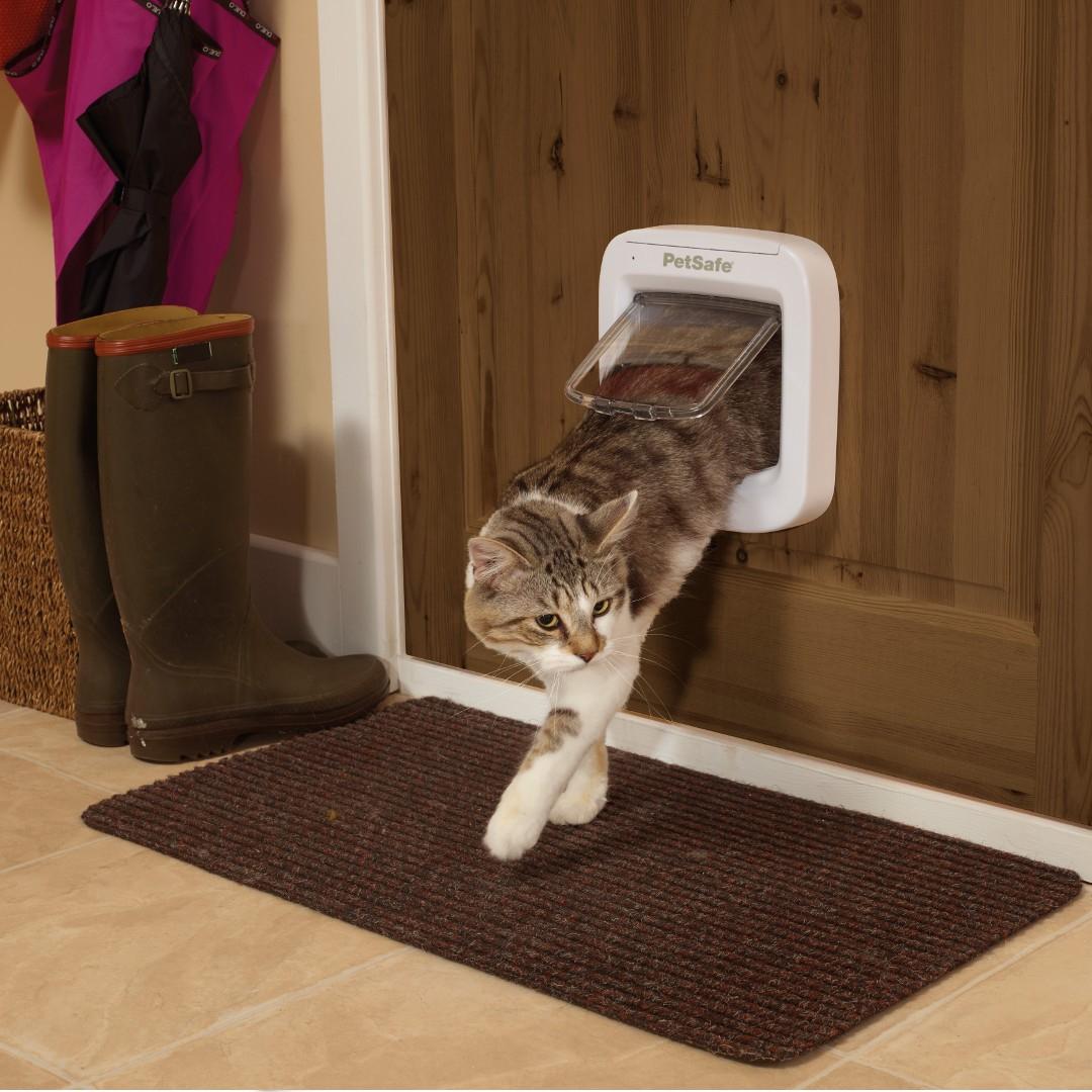 Microchip Cat Door By Petsafe Ppa19 16145 In Door Amp Wall