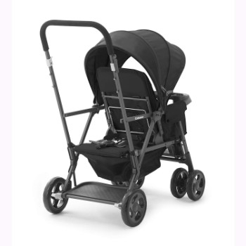 JOOVY-Caboose-Too-Graphite-Stand-On-Tandem-Stroller-Black
