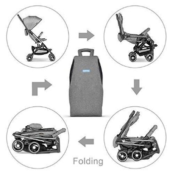 Besrey-Airplane-Stroller-One-Step-Design-for-Opening-Folding-Lightweight-Baby-Stroller-for-Infant-Convertible-Baby-Carriage-Gray
