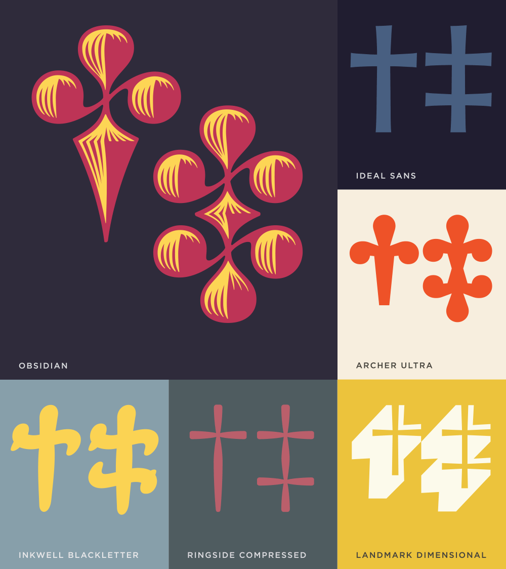 Daggers Afford The Type Designer A Rare Opportunity To Quote From More Widely Recognized Visual Languages Such As Architecture And Other Applied Arts