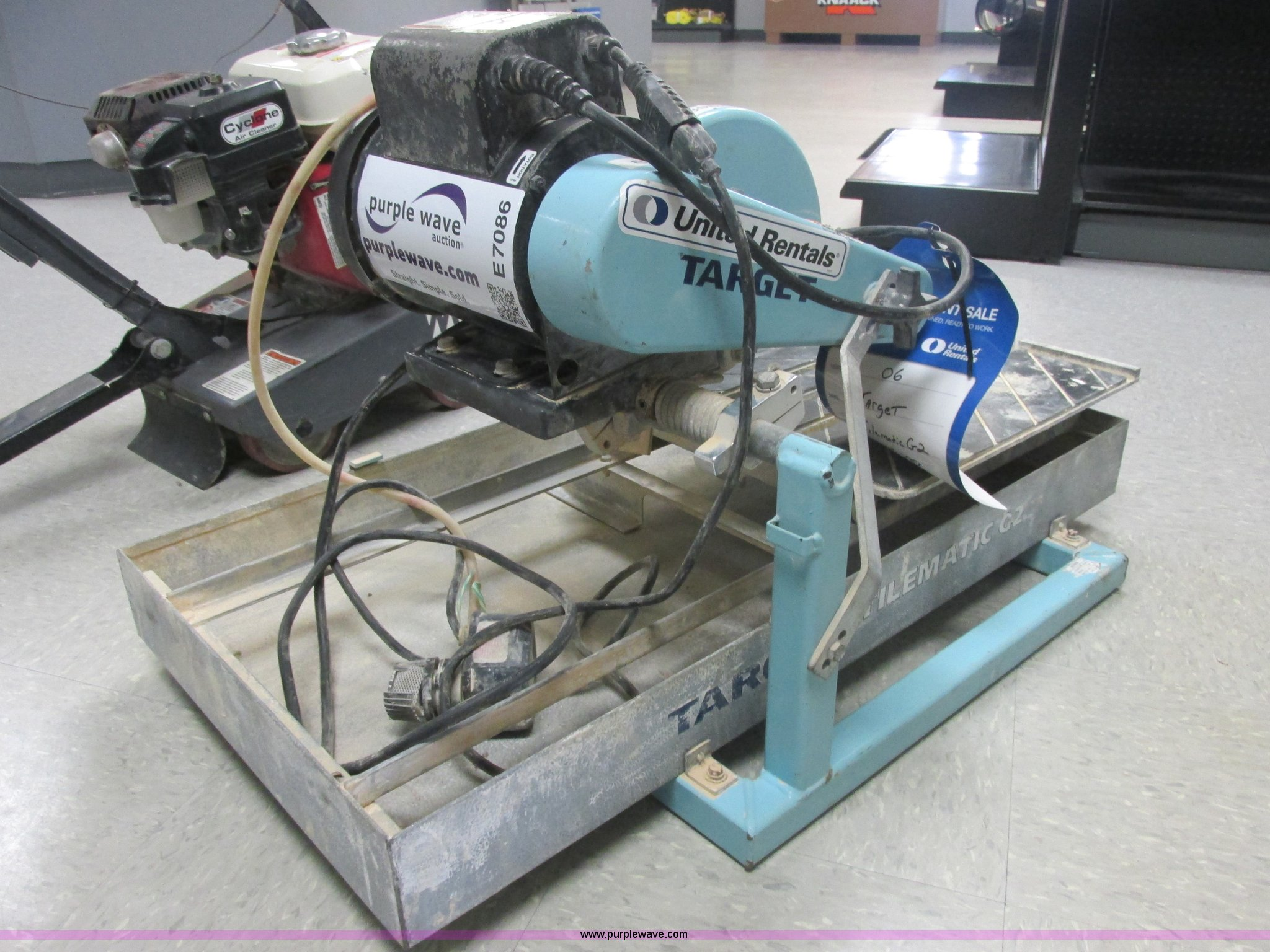 Favorite this post Sep 3. 2006 Target Tilematic G2 Tile Saw Wet Saw In Channahon Il Item E7086 Sold Purple Wave