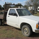 1993 Chevrolet S10 Flatbed Pickup Truck In Barnsdall Ok Item Bb9160 Sold Purple Wave