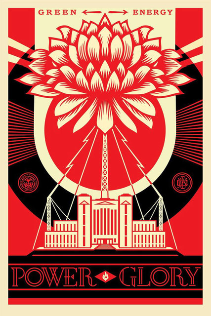 shepard fairey green power poster 2017 available for sale artsy
