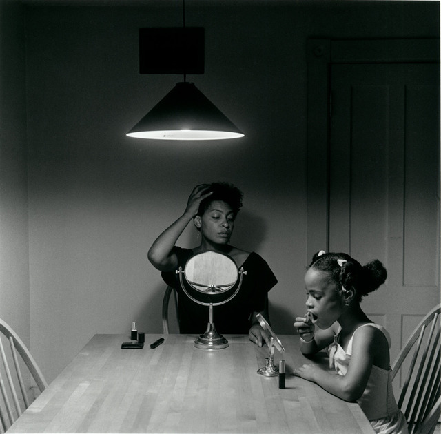 African American Art Mother And Daughter