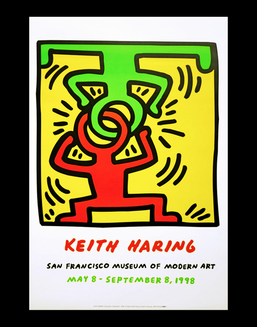 keith haring keith haring at san francisco museum of modern art poster 1998 available for sale artsy