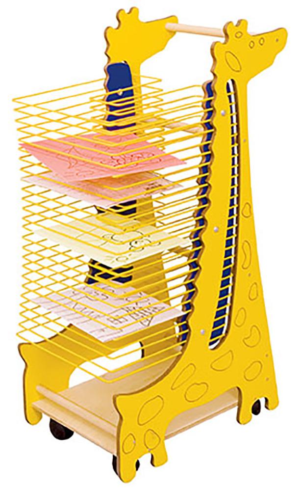 giraffe classroom art drying rack
