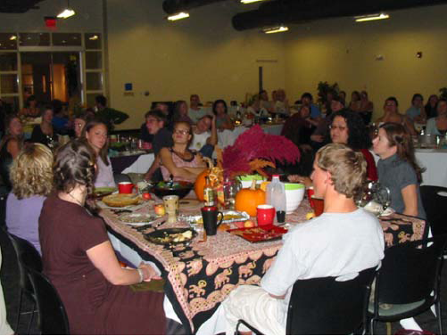 People at the Harvest Dinner
